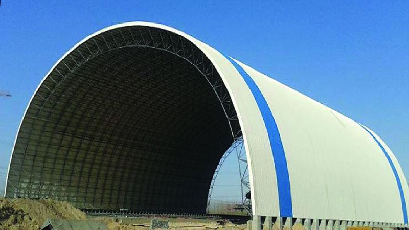 安微省安庆电厂煤棚工业网架