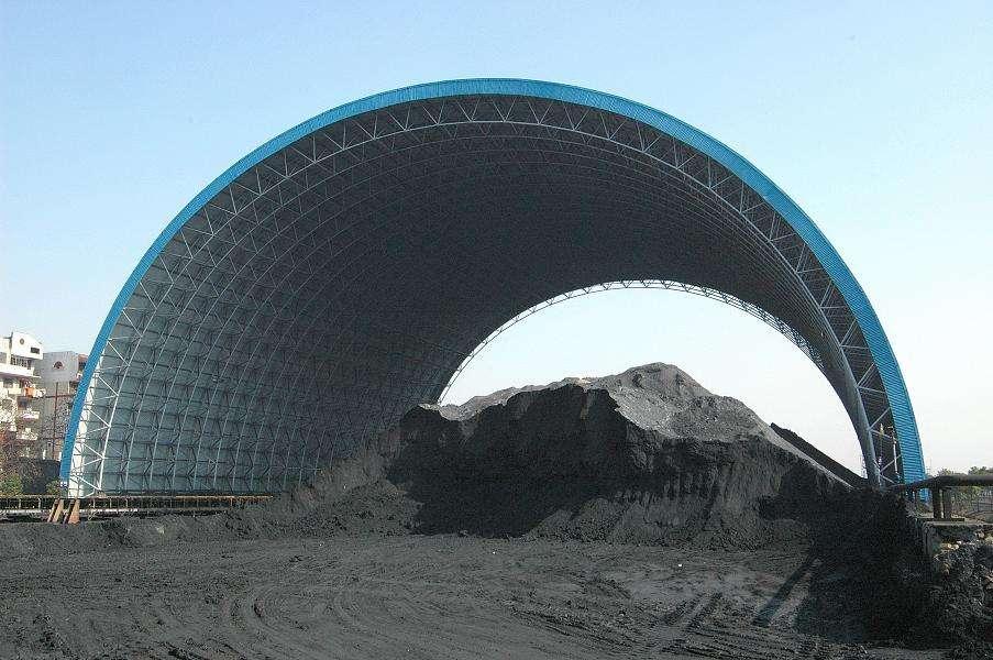 广东省潮州热电厂煤棚工业网架