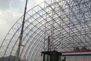 安慶電廠煤棚網架