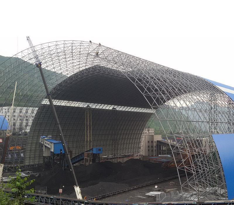 山西省陽煤集團煤棚工業網架