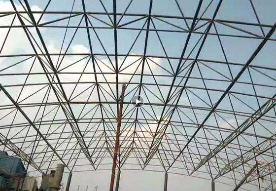 河北津西鋼廠原料棚鋼結構網架工程