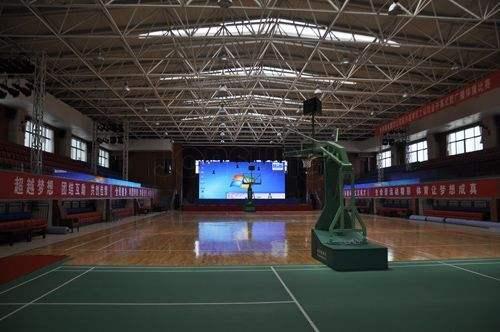 新疆吉林省長春市解放大路小學體育館網架